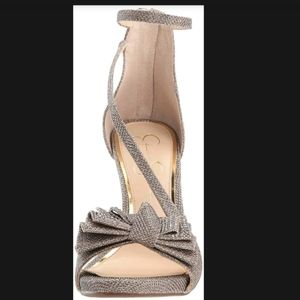 Jessica Simpson Remyia Bow Dress high heels Gold
